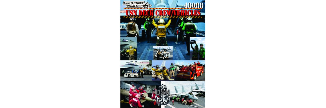 48088 CVN Deck Crew and Vehicles