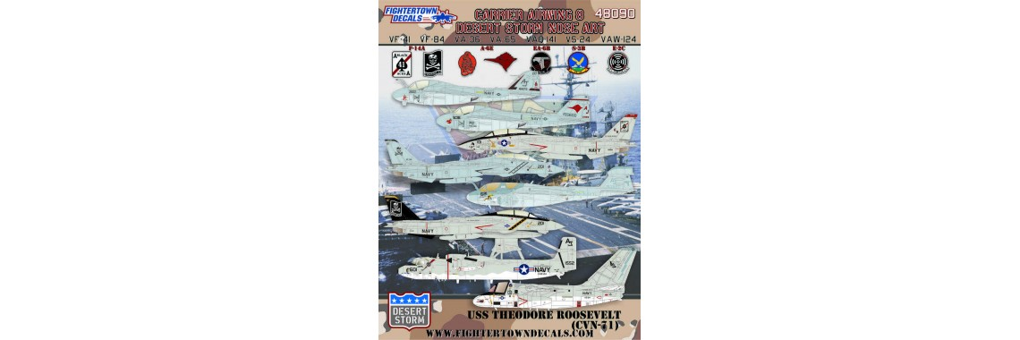 48090 Carrier Airwing 8 Desert Storm Nose Art